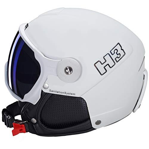 HMR Damen Skihelm H3, Weiß, weiß, 56_57