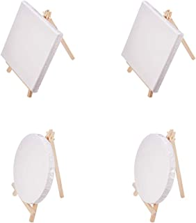 NBEADS 4 Pack Wooden Canvas Easel Set, 6