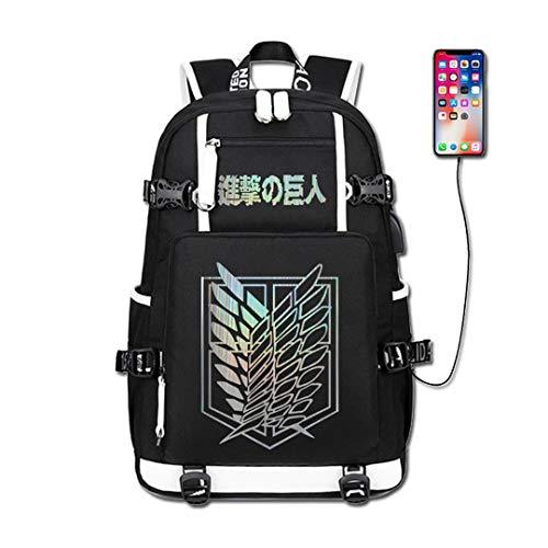 Anime Attack on Titan Shingeki no Kyojin Zaino Cosplay Bookbag Daypack Laptop Bag School Bag