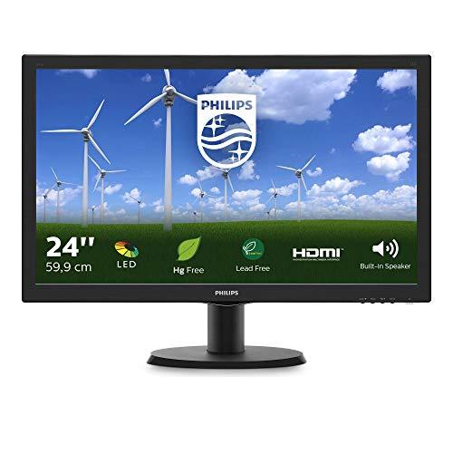 Philips 243S5LDAB/00 24 Full HD LCD Monitor, Black