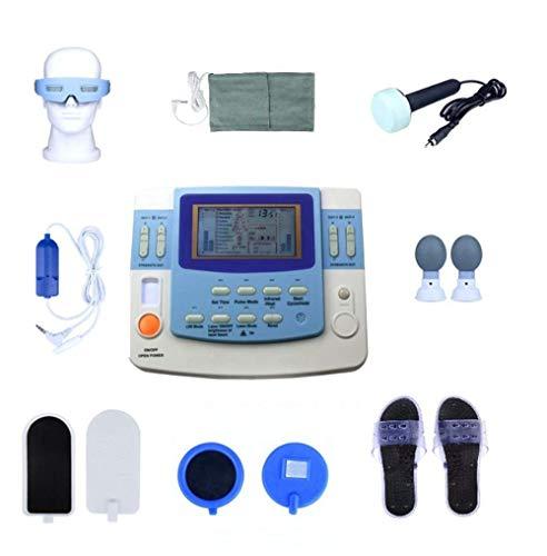 Los canales de baja frecuencia fisioterapia terapia, acupuntura cuerpo masajeador máquina de ultrasonido Decenas ccsme máquina con láser, Calefacción
