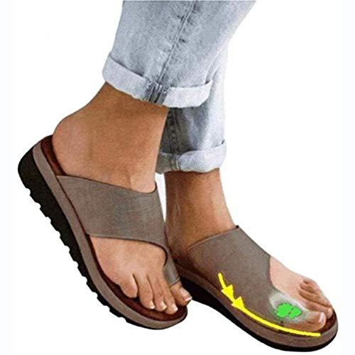 Aupast Sandalias Deformidad ortopédica Borsite Corretivo Verano Damas Confort Mujer Sandalia Plataforma cómoda Sandalia Zapatos ortopédicos