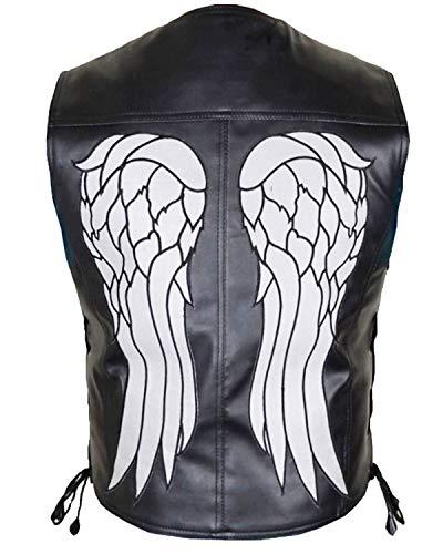 The Walking Dead Daryl Dixon Angel Wings Chaleco de piel para motocicleta