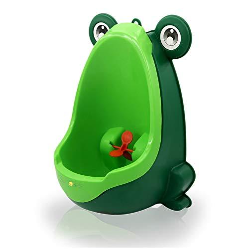 Süßer Frosch Kinder Töpfchen Toiletten Training Urinal für Jungen, Pee Trainer Bad Kinder Urinal mit Wirbel-Ziel