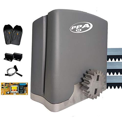 Motor de Portão Eletrônico Deslizante DZ Rio 400kg Z18 POP PROG PPA 3 metros Cremalheira (127)