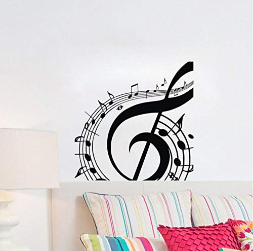 WVOVW Musical Note Wall Stickers Home Decor Music Room Wall Decorative Vinyl Wall Decals Removable Mural 59cm X 59cm DS1510