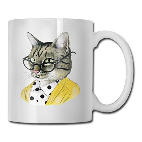 Panda eten rijst koffie mok, 11 Oz koffie mok, grappige koffie mok thee beker, nieuwigheid verjaardagscadeau ideeën voor mannen vrouwen Eén maat Etsy kat met bril
