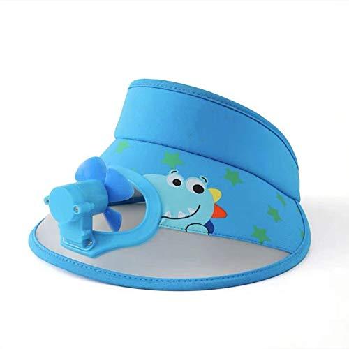 Sombrero con Abanico Niños Bebé Sombrero para el Sol Niñas Verano al Aire Libre Sombrero para el Sol Gran ala Salida de Verano(Color:Blue,Size:)