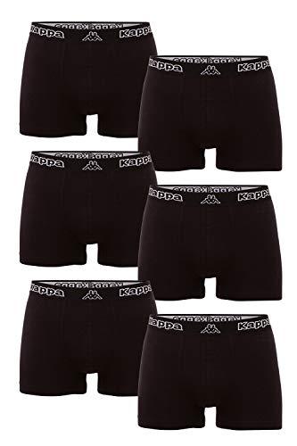 Kappa VINESTA Retro Pants 6er Pack Enge Boxer-Shorts für Männer, 19-4006 Caviar, XXXXL