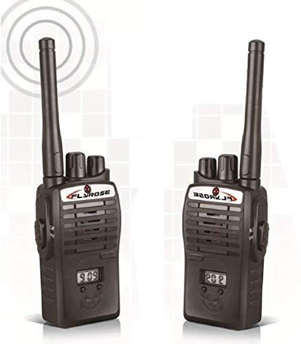 Funspot Wireless Walkie Talkie, Two-Way Radio Set Kids Portable Electronic Toy for Kids (Black)