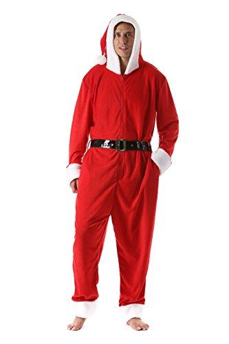 6449-L FollowMe Men's Adult Onesie Mens Pajamas Santa Large