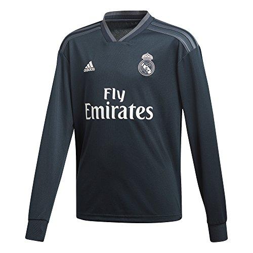 adidas 2018-2019 Real Madrid Away Long Sleeve Football Soccer T-Shirt Jersey (Kids)