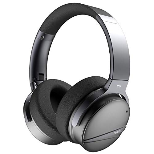 Active Noise Cancelling Bluetooth Headphones - 3D Wireless Over Ear Hi-Fi Sound Foldable Headset with Microphone, Built-in Gyroscope, Smart Play/Pause, Soft Protein Earpads for Travel Work TV/PC/Phone