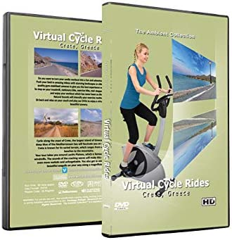 Virtual Cycle Rides DVD Crete Greece for Indoor Cycling Treadmill and Exercise Workouts product image
