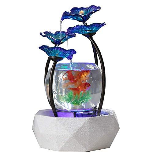 Kleine Glazen Aquarium,Luchtbevochtiger Keramische Basis,Smeedijzeren Bloemaccessoires,Huishoudelijke Waterornamenten,Huis- En Kantoordecoratie Ambachten,Beste Cadeau