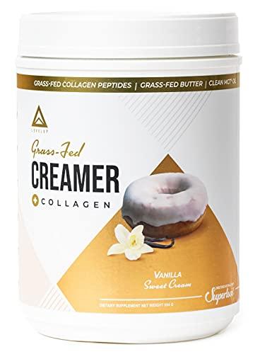 Grass-fed Keto Creamer: Collagen Protein + C8 MCT Oil + Irish Butter | Keto Bomb BPC Coffee Creamer | Ketogenic Diet Ketosis Supplement Ketone Support (Vanilla Sweet Cream, 20oz)