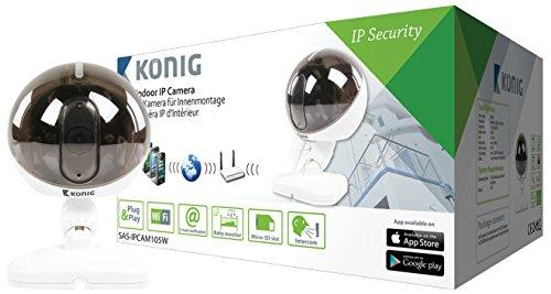 König SAS-IPCAM105W IP-camera voor binnen, wit, zwart