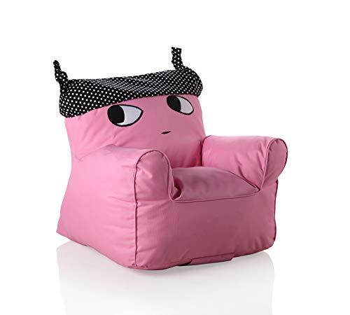Sweety Toys 11513 Sessel Kindersessel pink mit schwarzem Hut- indoor/outdoor-waterproof