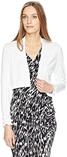 Calvin Klein Women's Long Shrug with Ruffle Sleeve