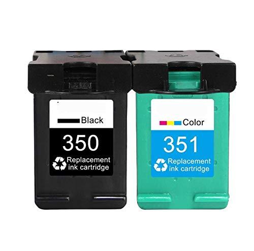 GBHD Tinta de Impresora Reemplazo del Cartucho 350XL 351XL para HP 350351 HP350 D4200 C4480 C4580 C4380 C4400 C4580 C5280 C5200 C5240 Impresora (Color : 350XL 351XL)