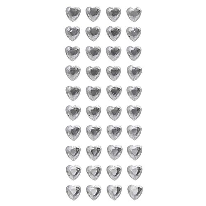 Darice 30053416 Heart Shape, 8mm Rhinestone 40 Piece Bling Stickers, Clear
