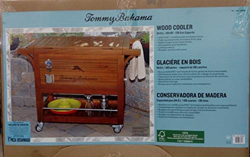 Tommy Bahama Relax 100 Quart 94 6 L Wood Rolling Cooler Buy Online In Gambia At Gambia Desertcart Com Productid 68683135