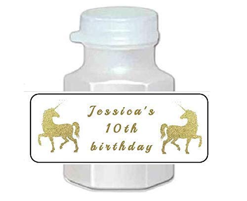 30 Personalized Unicorn Long-awaited Birthday bubble stickers labels party Limited time cheap sale