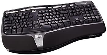Microsoft B2M-00016 Natural Ergonomic 4000 Latin America Spanish Wired USB Keyboard Black