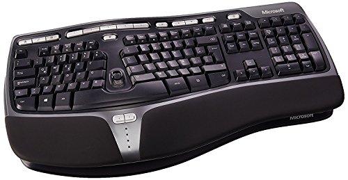 Microsoft B2M-00016 Natural Ergonomic 4000 Latin America Spanish Wired USB Keyboard, Black
