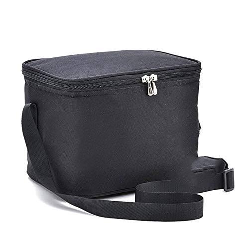 Draagbare thermische lunchtas voor dames Kinderen Heren Schoudervoedsel Picknick Koelboxen Tassen Geïsoleerde draagtas Opslagcontainer, zwart