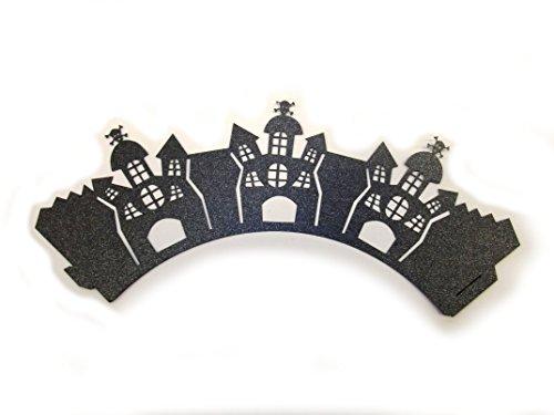 unbrand Halloween Muffin Wrapper Cupcake Papierförmchen Geisterstadt Halloweenparty Papiermanschette