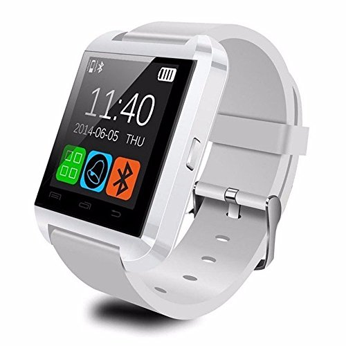 [Prime] U8 Bluetooth V4.0 Bluetooth Wrist Smart Watch Wristwatch UWatch for iOS Android iPhone 4/4S/5/5C/5S Samsung S2/S3/S4/Note 2/Note 3 HTC Sony BlackBerry,White