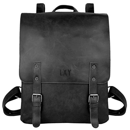 LXY - Zaino in pelle vegana, stile vintage, per laptop e libri Nero Cruz V2 Fresh Foam One Size