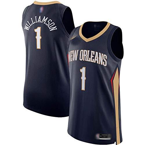 THDB Camiseta de baloncesto personalizada NO.1 azul marino, camiseta de jugador transpirable de manga corta para hombres - edición icono