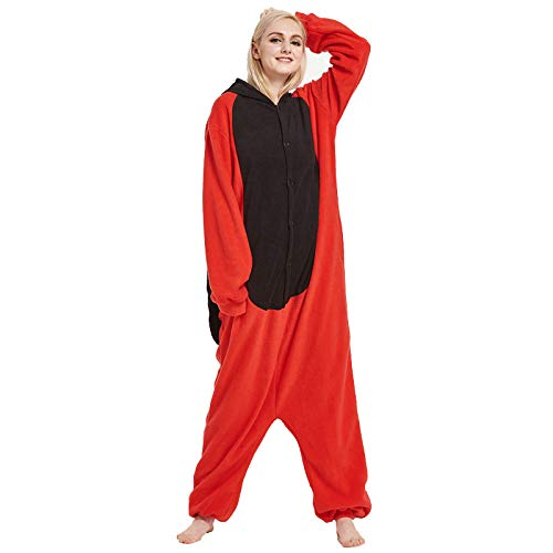 YUHUALI Einteiliger Pyjama aus Fleece für Damen Neu