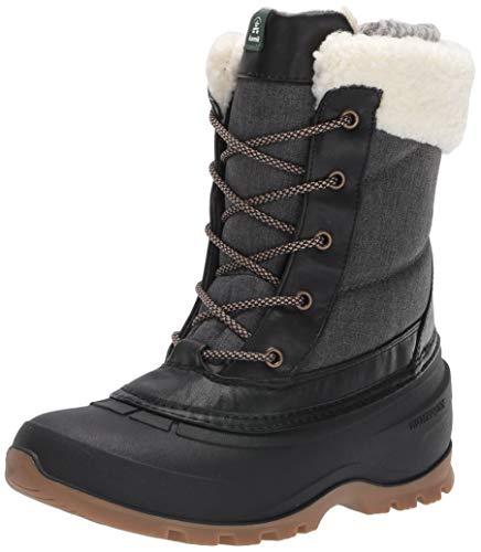 Kamik womens Boots Snow Shoe, Black, 10 US