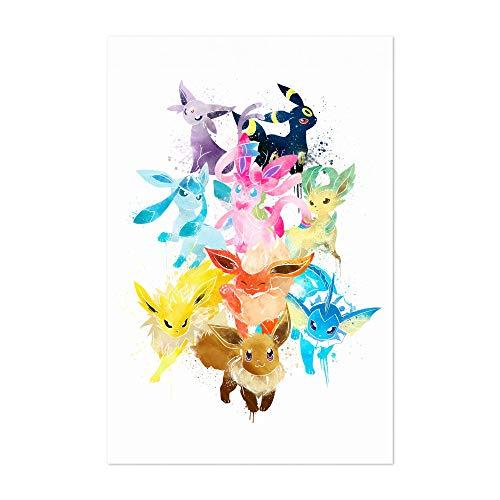 Noir Gallery Eevee Pokemon Painting 5' x 7' Unframed Art Print/Poster