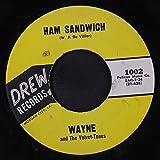 ham sandwich / with mustard