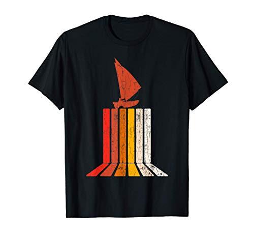 Barco de vela retro Capitán Marinero Regalo Barco de vela Camiseta
