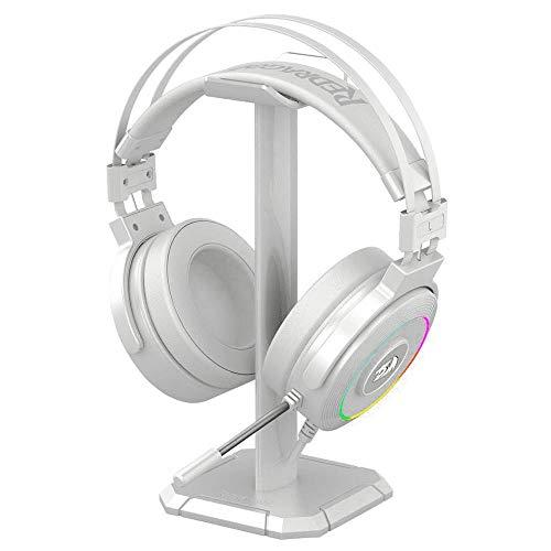 Redragon Lamia 2 H320W RGB Cascos Gaming Blancos - Auriculares con Microfono - Incluye Soporte - Cascos Potentes - USB - 7.1 Virtual - Headset para Juegos - PC Compatible