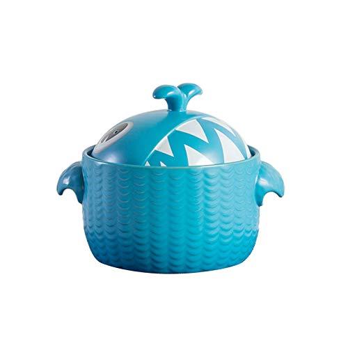 JT-Cookware Casserole en Céramique De Dessin Animé, Casserole avec Couvercle(Size:2.5L)