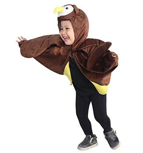 Eulen-Kostüm, An79 Gr. 74-98, als Umhang für Klein-Kinder und Babies, Eulen-Kostüme Fasching Karneval Fasnacht, Karnevalskostüme, Kinder-Faschingskostüme, Geburtstags-Geschenk Weihnachts-Geschenk