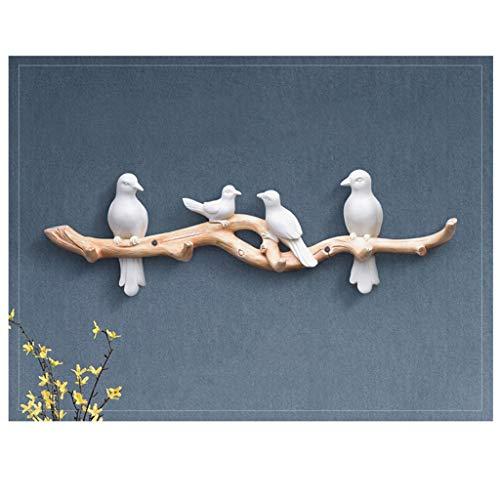Khmyi kledingrek creatieve deurdecoratie sleutelhaken hars wandbehang rek vogel Nordic deur wandhouder