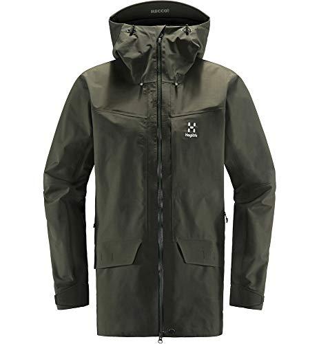 Haglöfs Regenjacke Herren Grym Evo Jacket wasserdicht, Winddicht, atmungsaktiv Deep Woods XL XL