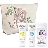 MARILOU BIO Trousse Indispensable en Coton Bio Crème de Jour Classic 30 ml/Crème de Nuit Classic 30 ml/Eau Micellaire 125 ml