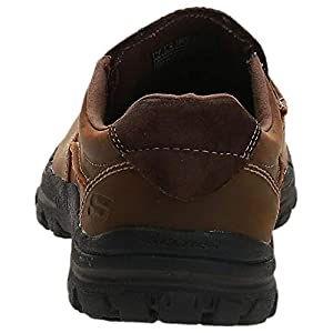 Skechers USA Men's Braver Rayland Slip-On Loafer,Dark Brown Leather,11 M US
