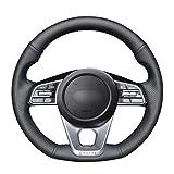 NsbsXs Für Kia K5 Optima 2019 Cee'd Ceed GT 2019 Cee'd Ceed Handgenähte Schwarze PU-Lenkradabdeckung