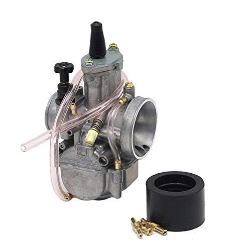 Carburador 2T 4T Universal para K&eihin para PWK para carburador de Motocicleta O&KO carburador 21 24 26 28 30 32 34mm con Chorro de Potencia (Color : 32mm P+WK)