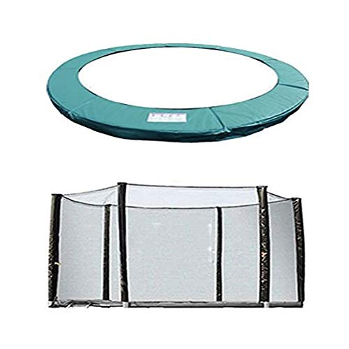 Greenbay Trampoline Replacement Safety Spring Cover Padding Pad + Safety Net Enclosure Surround 8FT Green