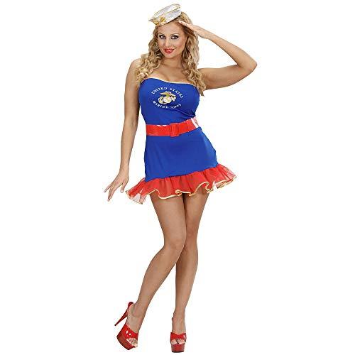 Widmann 59093 Adultes Costume Bleu Marine Girl, 42